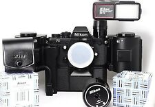 NIKON F3 KIT WITH MF-4, MD4, SB-12 AND MZ-1 in Mint/Good Condition
