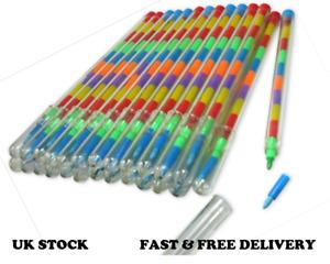 12x  Children Kids Swap Swop Point Crayons Stacker Pencils Party Loot Bag Filler