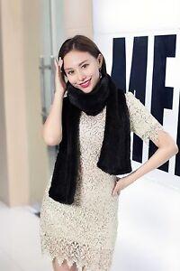100% real knitted mink fur scarf shawl neckerchief muffler cape wrap 20cm width