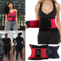 Womens Waist Trainer Cincher Sweat Girdle Gym Workout Shaper Slimming Sport Belt