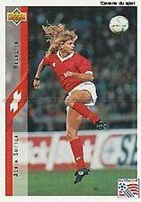 N°105 ALAIN SUTTER SWITZERLAND TRADING CARDS UPPER DECK WORLD CUP USA 1994
