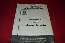 International Harvester 30 Manure Spreaders Setting Up Instructions Manual GDSD