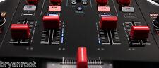 PIONEER DDJ-SX SZ RANE DJ 61 62 64 68 DENON NUMARK  TRAKTOR RED FADER CAP KNOB
