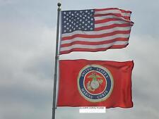 LOT 3' X 5' U.S.  AMERICAN & USMC  MARINE CORPS EMBLEM FLAG 3X5