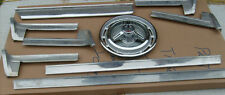1964 Oldsmobile 98 Lower Ribbed Pot Metal Trim 10 Pieces.