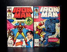 COMICS: Marvel: Iron Man #235-236 (1988), Grey Gargoyle app - RARE
