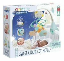 Clementoni BABY SWEET CLOUD COT Nursery MOBILE Night Light MUSICAL