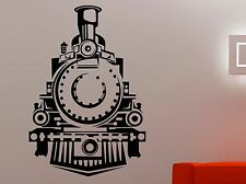 Train Wall Decal Retro Locomotive Transport Vinyl Sticker Art Boys Room Decor 7t