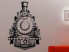 Train Wall Decal Retro Locomotive Transport Vinyl Sticker Art Boys Room Decor 7t