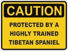 Dog Breed Tibetan Spaniel Caution Sticker Pet for Bumper Car Door