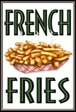 French Fries French Fries Metal Sign Signboard Arched Metal Tin Sign 20 x 30 CM