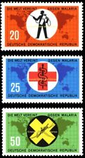 EBS East Germany DDR 1963 Campaign Against Malaria Michel 942-944 MNH**