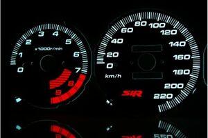 Honda Civic 1992-1995 - SIR design glow gauges dials plasma dials kit tacho glow