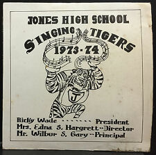 Jones High School Singing Tigers 1973-1974 LP VG+ Private Soul Funk Jazz USA