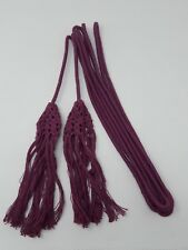 "Vintage Cincture with Ornate Tassels for Vestment 180"" Long Purple 80's"