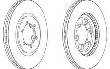 2x FERODO Disques de Frein Avant Ventilé 294mm pour SSANGYONG REXTON DDF1605