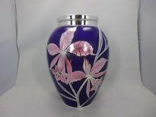 gr. Art Deco Hutschenreuther Vase mit Silveroverlay 29 cm  Deusch 1000/1000
