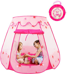 KIDAMI Princess Pop Up Tent for Toddlers and Girls No Assembly Required, and a &
