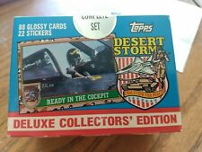 1991 TOPPS DESERT STORM  COMPLETE FACTORY SEALED SET 88 CARDS 22 STICKERS