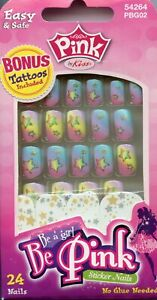 Pink by Kiss-Be Pink Sticker Nails Set 24 Nails (54264)