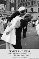 "VJ Day Wars End kiss poster 24 x 36"" Times Square New York City World War 2"