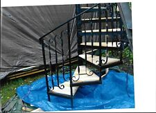 """The Spiral Staircase kit . It is 72"""" diameter  cedar wood on the steps ."""