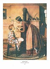 "Norman Rockwell Doctor's office print: ""MEDICINE"" Nurse hospital 11x15"""