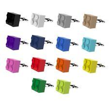 LEGO Brick Cufflinks SILVER PLATED - Wedding Groom Mens Gift
