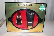 Lady Gaga Fame Black Fluid Gift Set - 1oz Perfume/2.5 oz. Shower Gel