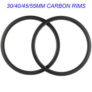 30 40 45 55MM Carbon Rims 700C Road Bike Rim Basalt Brake Line U Bicycle Rims