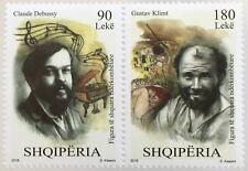 Albanien 2018 Neuheit Berühmte Künstler Gustav Klimt Maler und Claude Debussy