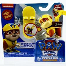 Paw Patrol Rubble Snowboard Action Pack Pup Winter Rescues Hero Pup Figure Toys