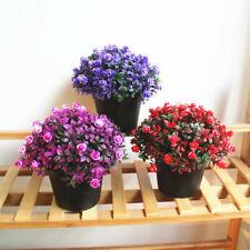 Artificial Plastic Flower Fake Floral Plant Bonsai Gardening Decor 3 Colors