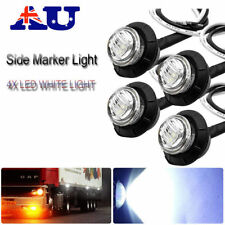 4x LED Side Marker Lights Rock White Round Button Lights Truck Eagle Eye Lamp