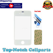 iPhone 4 4G White Front Glass Lens with Adhesive and Free Tools