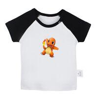 Cute Cartoon Pokemon Charmander Newborn Baby T-shirt Toddler Graphic Tee Vest