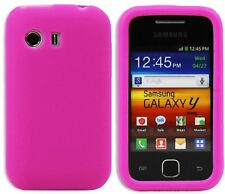 New Design Silicone Case Cover Skin for Samsung Galaxy Y S5360 - Pink