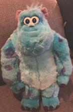 "Monsters Inc Sulley Plush 18"" Disney Pixar Sully Blue Disney Store Authentic EUC"
