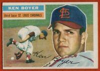 1956 Topps #14 Ken Boyer EX-EX+ St. Louis Cardinals FREE SHIPPING