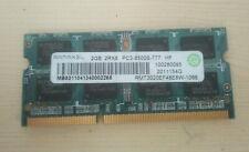 Mémoire 2GO RAM 2Rx8 DDR3 RAMAXEL SODIMM PC3 8500S RMT3020EF48E8W-1066 GARANTIE