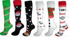 1 Pair Ladies Mens Christmas Design Long Thermal Welly Ski Tube Socks Boots
