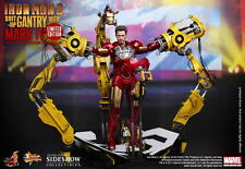 HOT TOYS 1/6 IRON MAN 2 MMS160 SUIT-UP GANTRY WITH MK4 MARK IV SET ACTION FIGURE