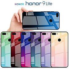 COVER per Huawei Honor 9 Lite CUSTODIA Gradient Glass con RETRO VETRO TEMPERATO