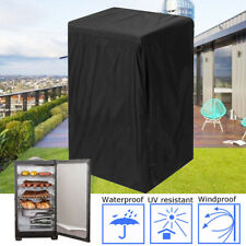 31 Inch Black Vinyl Electric Smoker Cover Protect Waterproof Collapsible !
