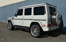 "24"" Wheels For Mercedes G Wagon G500 G550 G55 G63 Machined Silver (Rims Set 4)"