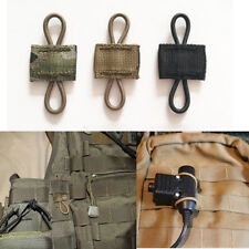 3pcs Elastic Molle Ribbon Buckle Tactical Binding Retainer For PTT Antenna Stick