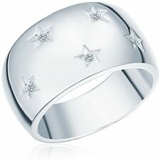 Echtschmuck aus Sterlingsilber mit Diamanten Ringe