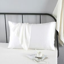 100% Pure Mulberry Silk Double Face Pillowcase for Hair Skin Sham Cover Ivory