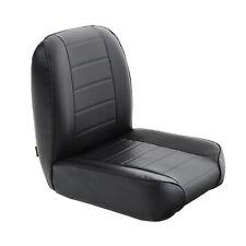 Smittybilt Low Back Front Seat Black Vinyl Fits Jeep CJ 1955-1976 S/B44801