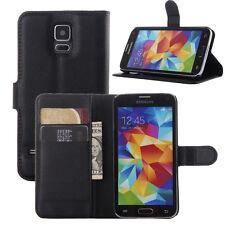 Para Samsung Galaxy Modelos Antichoque De Lujo Cartera Funda Plegable De Piel